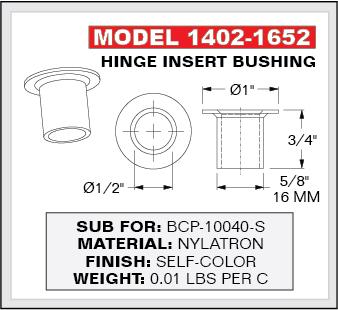 ... Hinge Bushing W/ Collar Washer, 16mm OD, For 1/2 Pin, ...