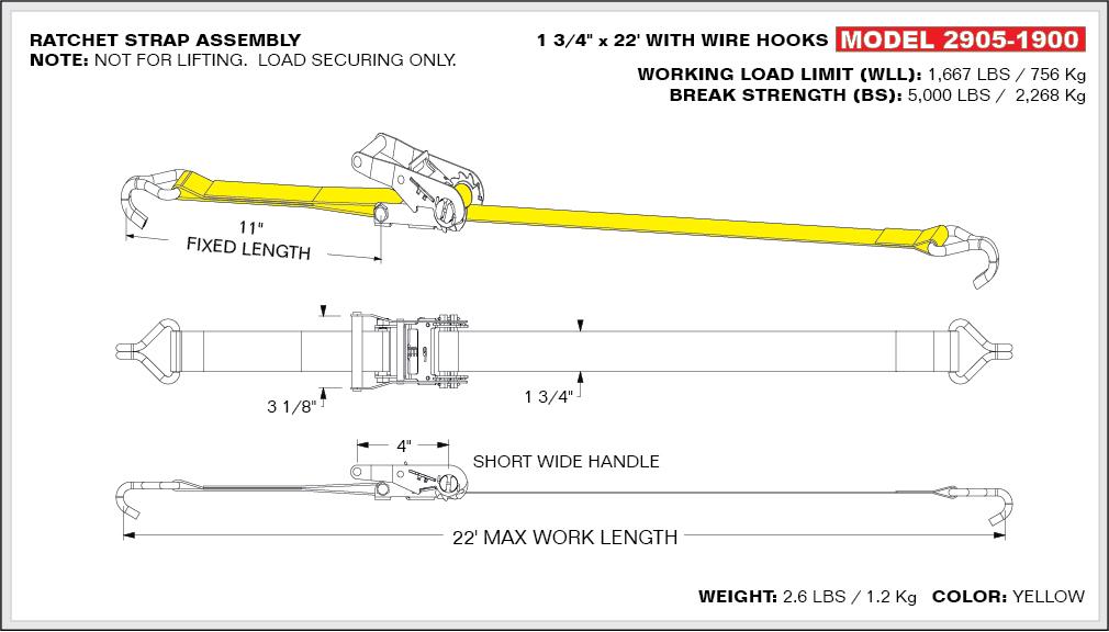 web ratchet strap assemblies utility straps parts. Black Bedroom Furniture Sets. Home Design Ideas